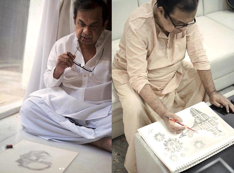 Brahmanandams pencil sketches win hearts in lockdown times!