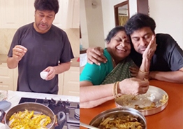 Too cute! Chiranjeevi enjoys serving his beloved mother her own recipe