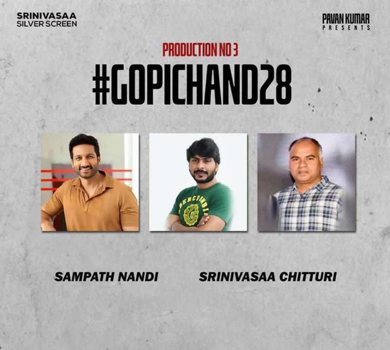 Gopichands next movie with commercial director