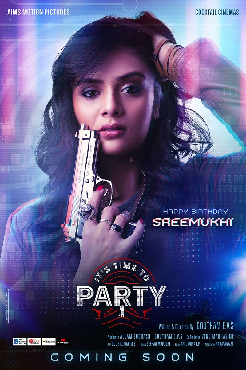 First Look of Its Time to Party unveiled on Sreemukhis birthday