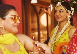 Pic Talk: Kajal Aggarwal looks oh-so-cute in haldi function