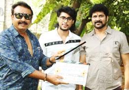 Sharan 'The Light' Kumar, a member of Krishna-Vijaya Nirmala's family, to debut in Ramachandra Vattikutti's direction. Movie launched!