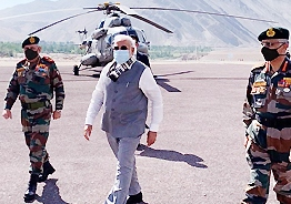 Modi makes a surprise visit to Ladakh amid Indo-China tensions