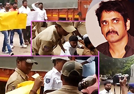 OU students surround Nagarjuna's house, say Bigg Boss is anti-Telangana