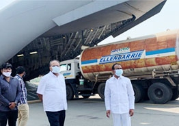 'First time in India': Telangana deploys aircraft to airlift oxygen cylinders