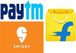 Paytm, Flipkart , Swiggy incur huge losses