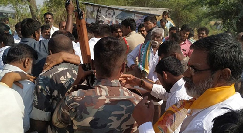 YSRCP MLA's men attack TDP candidate, tension ensues