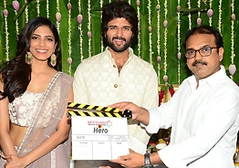 Vijay Deverakonda's 'Hero' launched; Malavika is heroine
