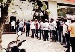 Long queues outside wine shops in Hyderabad