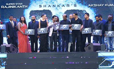 Rajinikanth-Shankar's '2.0' Audio Released