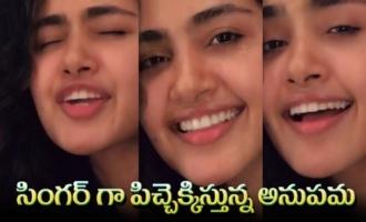Actress Anupama Parameswaran Singing Unnimaya Song From Maniyarayile Ashokan | IG Telugu