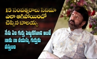 Balakrishna reveals reasons behind Narthanasala 15 years delay