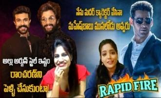 Rapid Fire with Battala Ramaswamy Biopic Actress Lavanya Reddy and Saatvika Jai