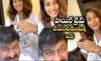 Chiranjeevi Goes for Hair Trimming