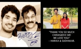 Megastar Chiranjeevi Appreciation For The Tribute By Sudhakar And His Wife