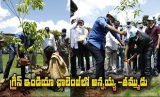 Chiranjeevi and Pawan Kalyan Participated In Green India Challenge