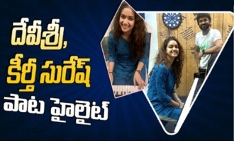 Keerthy Suresh and Devi Sri Prasad Making Fun