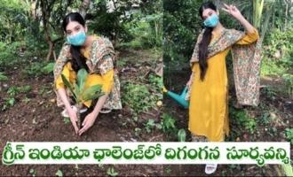 Actress Digangana Accepts Sampath Nandi's Green India Challenge