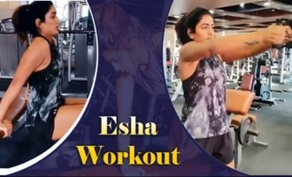 Actress Eesha Rebba Doing Heavy GYM Workouts