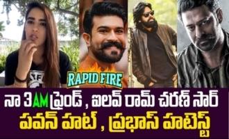 I love Ram Charan : Kavya Thapar | Rapid Fire with Ek Mini Katha Team | Santhosh Shobhan