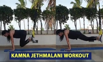 Actress Kamna Jethmalani Workout Video