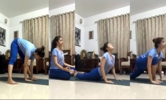 Keerthy Suresh Doing Yoga Asanas | TFI Celebrities All Updates | IG Telugu