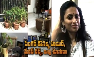Singer Kousalya's Hair, Makeup Tips And House Inside View Home Tour
