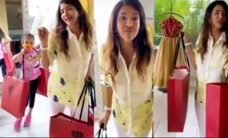 Actress Lakshmi Manchu Enjoying Shopping