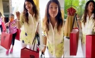 Actress Lakshmi Manchu Enjoying Shopping
