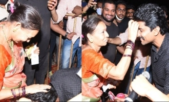 Natural Star Nani Takes a Blessing From this Woman at Tuck Jagadish Event