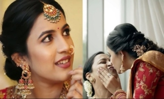 Actress Niharika Making Fun At Engagement Makeup Session