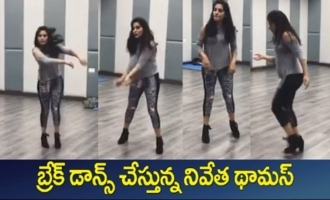 Actress Nivetha Thomas Dance Rehearsals For V Movie
