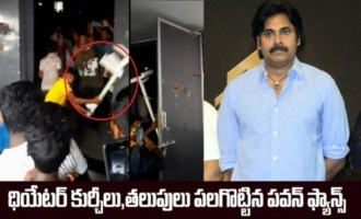 Pawan Kalyan fans go on rampage in theatre with abruption to Vakeel Saab screening
