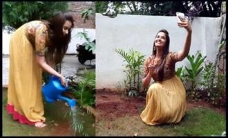 Actress Poojitha Accepts Green India Challenge | IG Telugu