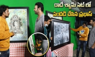 Prabhas At Radhe Shyam Movie Sets