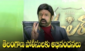 Hats Off To Telangana Police: Balakrishna