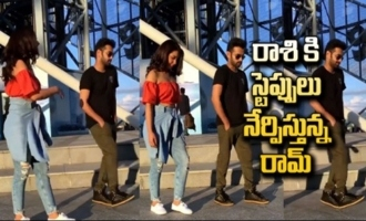 Ram Pothineni Teaching Dance Moves To Raashi Khanna