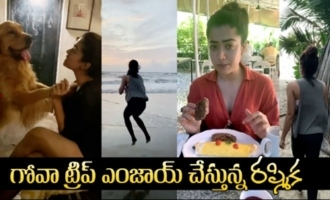 Actress Rashmika Mandanna Enjoying Her Goa Trip
