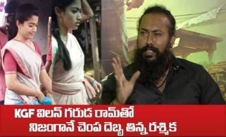Rashmika slapped by KGF Villain Garuda Ram