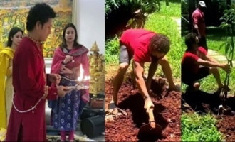 Sachin Tendulkar Accepts Green India Challenge | Sachin Tendulkar Celebrating Vinayaka Chavithi
