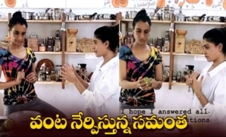 Actress Samantha Learning About How To Cook Avocado