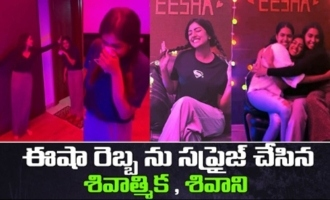 Shivathmika and Shivani Surprises Eesha Rebba On Her Birthday