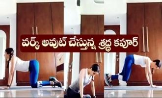 Actress Shraddha Kapoor Workout Video