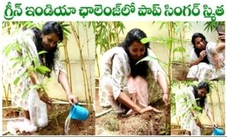 Singer Smitha Participates in Green India Challenge