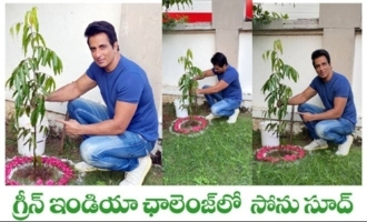 Actor Sonu Sood Accepts Green India Challenge