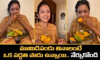 Suma Kanakala Eating Mangos