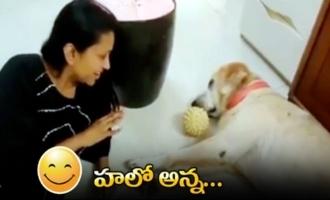 Anchor Suma Making Fun With Her Dog