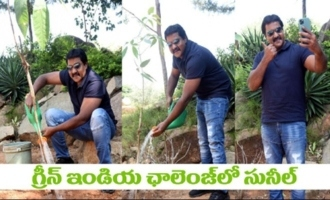 Actor Sunil Accepts Green India Challenge