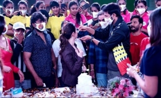 Grand Birthday Celebrations Of Star Heroine Tamannaah On The Sets Of Seetimaarr