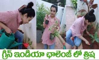 Trisha Krishnan accepted Green India Challenge